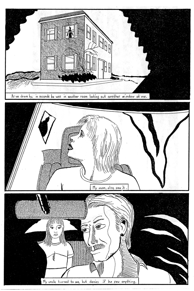 Last page of ghost story comic about girl in Connecticut